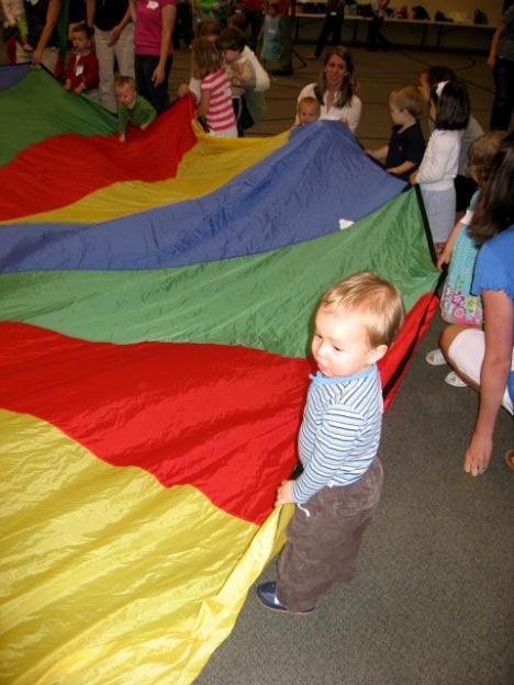 Parachute fun in Charlottesville