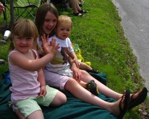Cousins enjoying the parade