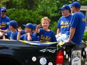cousin Isaiah in the parade