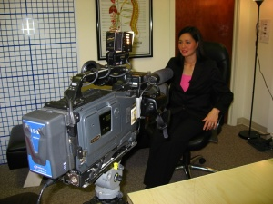 Dr. Dolly in front of the camera