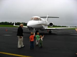Leer jet at CHO