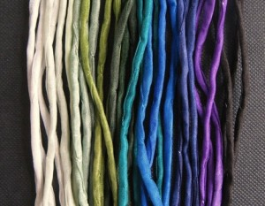 silk cords for organic o necklaces