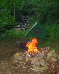 Camping in Madison county, Virginia