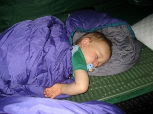 Peaceful slumber in a tent