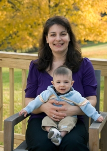 Anna Patchias, Ph.D. and her baby boy James
