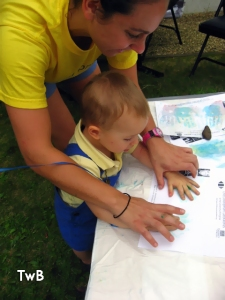 finger painting at the UVA CDL open house