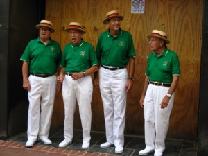 Barbershop Quartet on Charlottesville's Downtown Mall